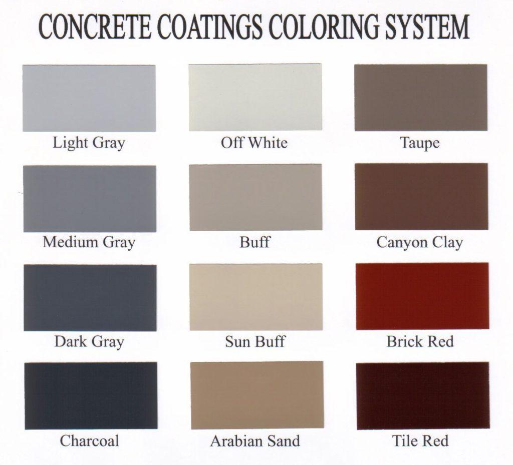 Kolour Koat Colour Chart
