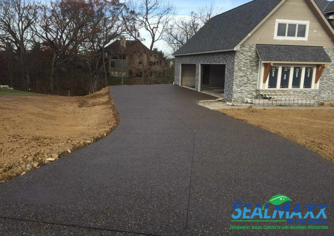 Concrete Driveway sealed by us in Columbus, Ohio