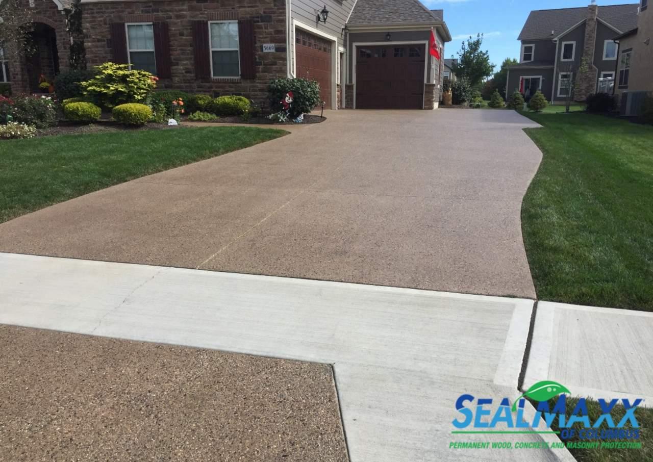 Concrete Driveway sealed by us